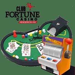 tables de jeu et machines à sous Club Fortune