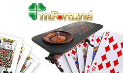 table de roulette et cartes de mFortune